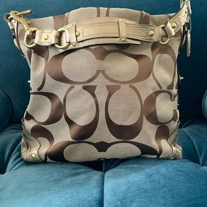 COACH MONOGRAM HOBO PURSE